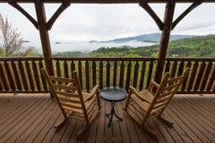Smokey Mountains Cabin View Stock Photo