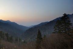 Smokey mountains Gatlinburg Tennessee. Twilight photo Gatlinburg Tennessee Smokey Mountains Royalty Free Stock Images