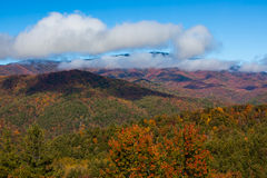 Smokey mountains national park in autumn Royalty Free Stock Photos