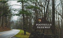 Smokey Mountains Parkway immagini stock libere da diritti