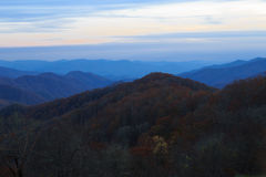 Smokey mountains after sunset. Royalty Free Stock Photography
