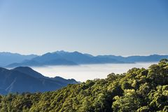 Smokey mountains in Taiwan stock images