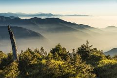 Smokey mountains in Taiwan royalty free stock images
