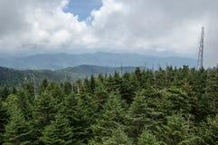 Smokey Mountains van de Koepel van Clingman stock fotografie