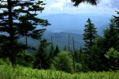 Smokey Mountains View da area di parcheggio della cupola di Clingmans Fotografia Stock Libera da Diritti