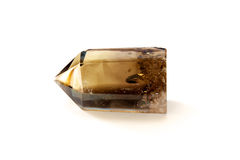 Smokey quartz crystal over white Stock Photography