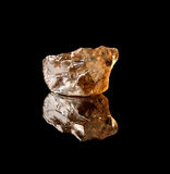 Smokey quartz gemstone Royalty Free Stock Images