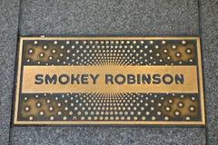 Smokey Robinson Plaque Fotografía de archivo