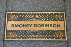 Smokey Robinson Plaque Stock Photography