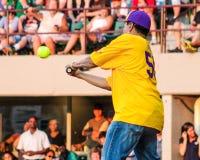 Smokey Robinson takes a swing. Stock Image