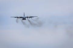 Smokey samolot zdjęcia royalty free