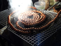 Smokey sausage by Asian local traditional Stock Photos