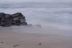 Smokey Sea Water on Shore Royalty Free Stock Image