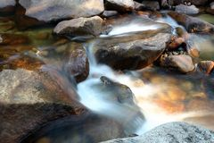 Smokey Stream. Close up of a stream in Yosemite National Park, California, U.S.A Royalty Free Stock Image