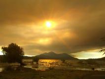 Smokey Sunset fotografering för bildbyråer