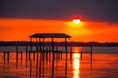 Smokey Sunset image stock