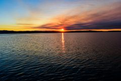Smokey Sunset Arkivfoton