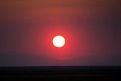 Smokey Sunset Royalty Free Stock Image