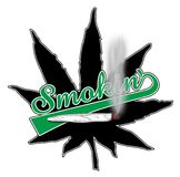 Smokin Pot Leaf Royalty Free Stock Image