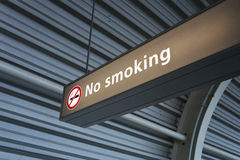 Smoking. No smoking sign on the airport Stock Images