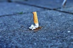 Smoking. Once a smoker stops smoking Stock Image