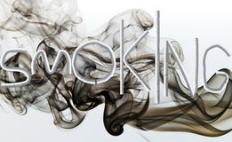 Smoking. Word smoking made out of cigarettes Royalty Free Stock Photography