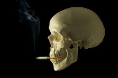Smoking 2. Smoking cranial sybolizes the danger of smoking Royalty Free Stock Photo