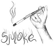 The smoking Royalty Free Stock Photography
