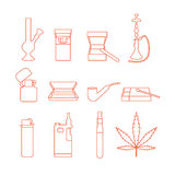 Smoking accessories royalty free illustration