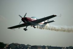 SMOKING AIRCRAFT Royalty Free Stock Photography