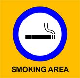 Smoking area Royalty Free Stock Photo