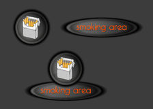 Smoking area buttons Royalty Free Stock Photography