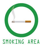 Smoking area Royalty Free Stock Images