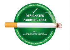 Smoking area - printable sticker Royalty Free Stock Photography