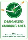 Smoking area - printable sticker Royalty Free Stock Images