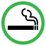 Smoking Area Sign Royalty Free Stock Photos