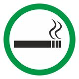 Smoking area sign. Allow the smiking opposite sign of the no smoking Royalty Free Stock Photography