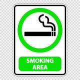 symbol smoking area sign label on transparent background royalty free illustration