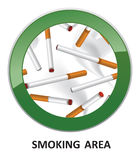 Smoking area sign. Stock Photography
