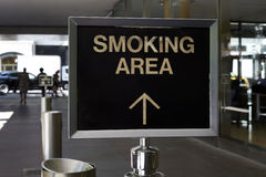 Smoking area Royalty Free Stock Photography