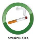 Smoking area symbol. Cwarning,igarette icon. Royalty Free Stock Image