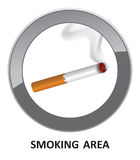 Smoking area symbol. Royalty Free Stock Images