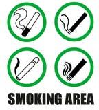 Smoking area symbols Stock Images