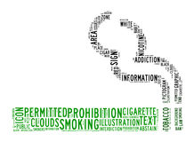 Smoking area text clouds Royalty Free Stock Photos