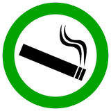 Smoking Area Vector Sign Royalty Free Stock Photography