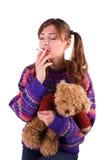 Smoking baby Stock Images