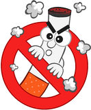 Smoking Ban Cartoon Royalty Free Stock Images