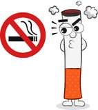 Smoking Ban and Cigarette Cartoon Royalty Free Stock Photos