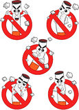 Smoking Ban - Cigarette Cartoons Royalty Free Stock Photo