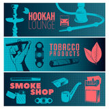 Smoking Banner Set Stock Photography